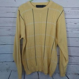Oversized dad grandad cable knit sweater